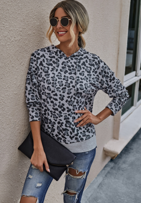 Leopard Hoodies with Pocket