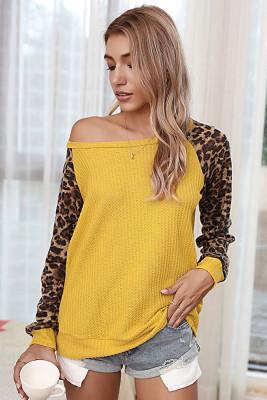 Yellow Leopard Long Sleeve Top