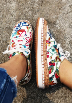 Multi-colored Floral Sneakers