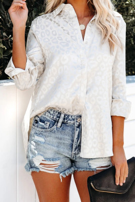 Apricot Embossed Button Shirt