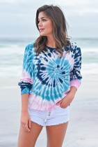 Tie Dye Loose Long Sleeve Tops