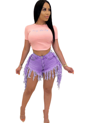 Hot Shorts Jeans with Tassel