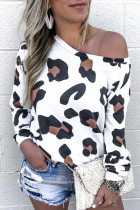 White Leopard Long Sleeve Top
