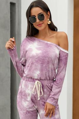 Purple Tie-dye Jumpsuit