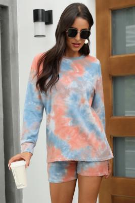 Blue Tie Dye Pajamas Set