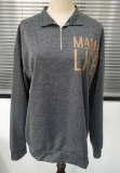 Mama Life Zip it Up Graphee Sweatshirt
