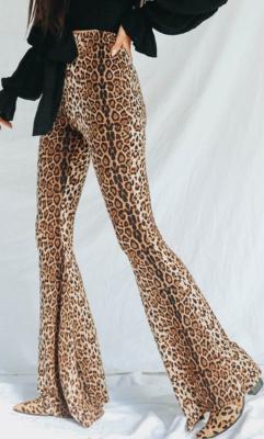 Leopard High Waist Flare Pants