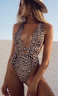 Leopard One Piece Swimwear