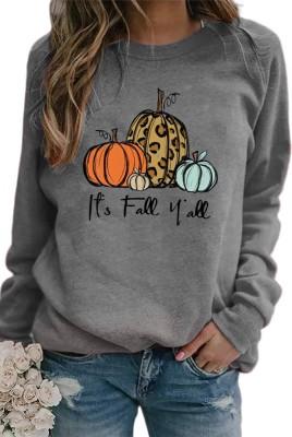 Halloween Pumpkin Pullover Graphee Top