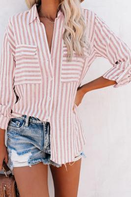 Cotton Striped Button Shirt