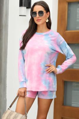 Pink Tie Dye Pajamas Set
