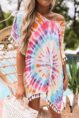 Multicolor Soakin' Up The Sun Tie Dye Tunic