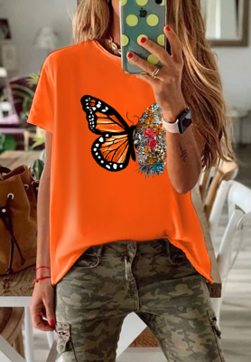 Butterfly Flora Loose Top