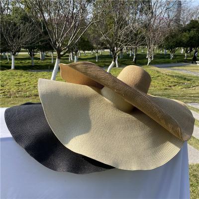 Solid Big Beach Hat
