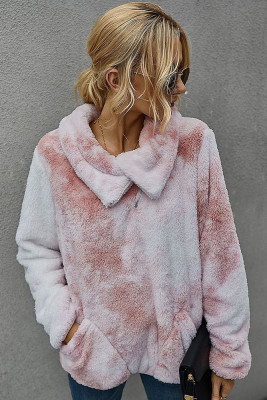 Pink Tie Dye Sweatershirt with Pocket