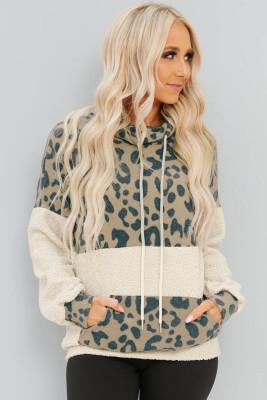 Apricot Leopard Print Sweatshirt