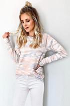 Khaki Camo Print Sweatshirt