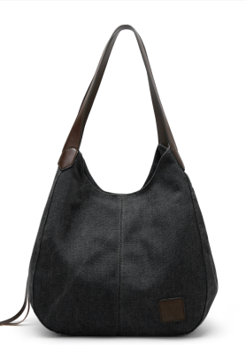 Solid Canvas Tote Bag