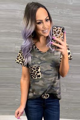 Leopard Pocket Camo T-shirt