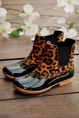 Leopard Waterproof Boots