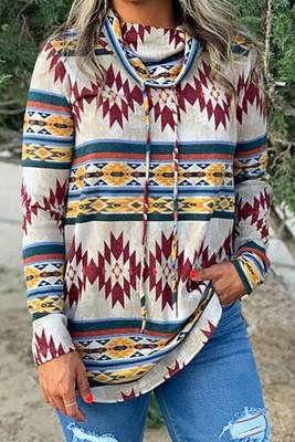 Pattern Print Crew Neck Sweatshirts