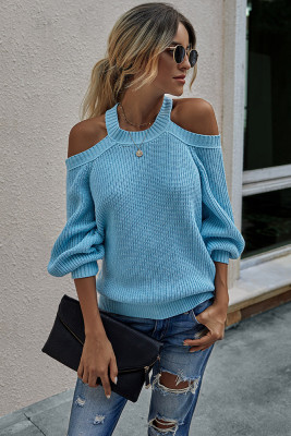 Solid Cord Shoulder Sweaters