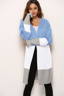 Colorblock Knitted Cardigan