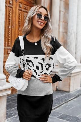 Leopard Colorblock Dresses