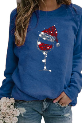 Christmas Hat Glass Sweatshirts