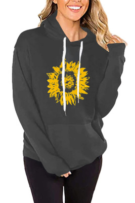 Sunflower Drawstring Hoodies