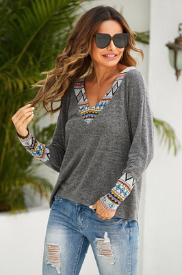 V Neck Solid Color Cardigan