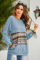 Solid Digital Print Sweatershirt