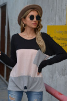 Black Long Sleeve T-shirt with Pocket