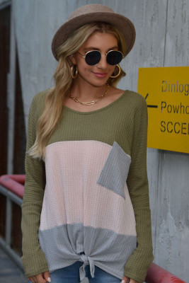 Green Long Sleeve T-shirt with Pocket