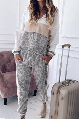 Leopard Print Two Piece Pants Set