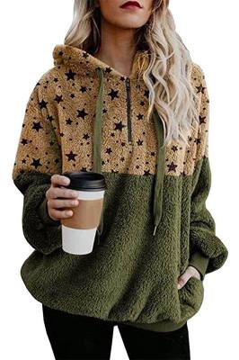 Start Print Patchwork Sweatshirt