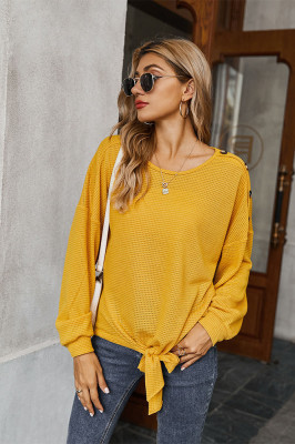 Solid Color with Button Cardigan