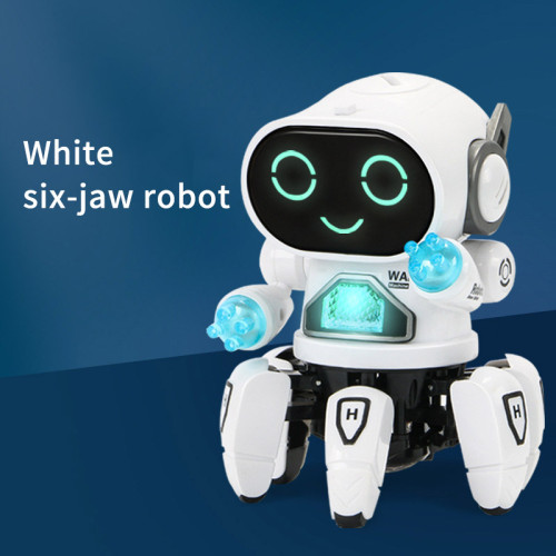 Dancing electric hexapod steel robot