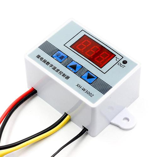 12V 24V 220V Professional W3002 Digital LED Temperature Controller 10A Thermostat Regulator XH-W3002