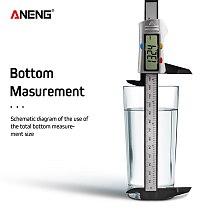 ANENG 150mm 0.1mm Digital Vernier Caliper 6 inch Electronic Micrometer Paquimetro calibrador Digital Measurement Calipers Scale