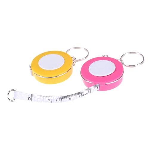 New Candy Color Keychain Tape Measure 1.5 Meters Quantity Clothing Size Tape Measure Small Tape Measure