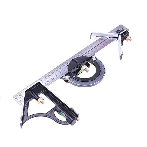 300mm 3 In1 Adjustable Ruler Multi Combination Square Angle Finder Protractor Measuring Set Tools Universal Ruler Right Angle