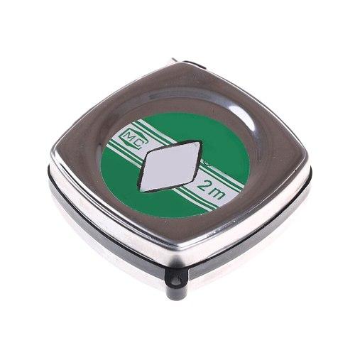 2 Meters Retractable Ruler Tape Portable Mini Metal Pull Ruler Tape Measure