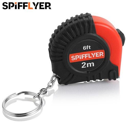 2M 6FT Mini Measuring Tape Small Tape Measure Key Chain Retractable Keychain Ruler Pocket Metric SAE Measurement Tape