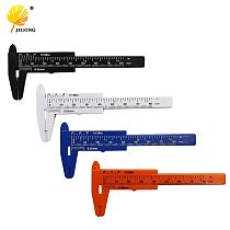 JIGONG Mini Plastic Vernier Caliper Gauge Micrometer 80MM Mini Ruler Accurate Measurement Tools Standard Vernier Caliper