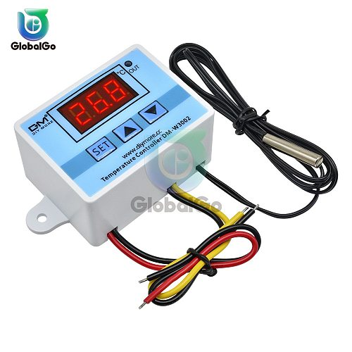 XH-W3002 W3002 AC 110V-220V DC 24V DC 12V Led Digital Thermoregulator Thermostat Temperature Controller Control Switch Meter