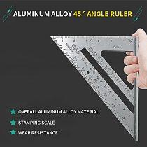 Measurement Tool  Square Ruler Aluminum Alloy Speed Protractor Miter For Carpenter Tri-square Line Scriber Saw Guide