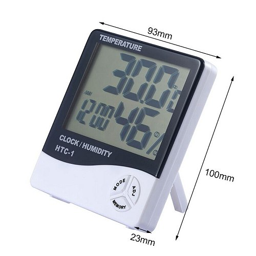 Digital Thermometer Hygrometer Indoor Outdoor Temperature Humidity Meter Display Sensor Probe Weather Station with LCD Display