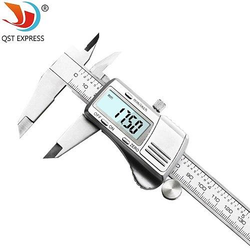 digital caliper 0-150mm 0.01mm stainless steel electronic vernier calipers metric / inch micrometer gauge measuring tools
