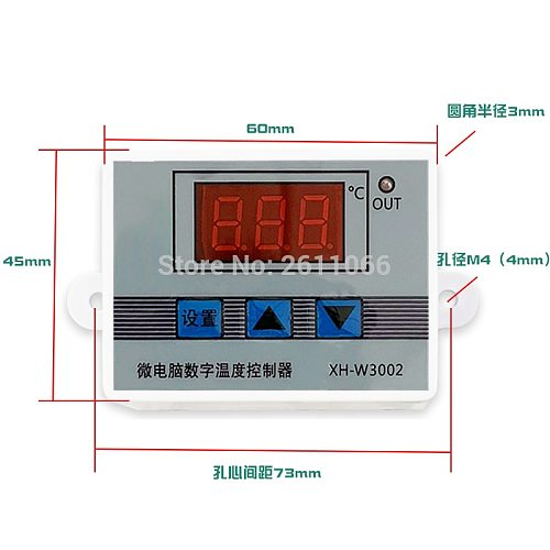 W3001 W3002 DC12V 24V AC110V-220V LED Digital Thermostat Temperature Controller Thermoregulator Heating Cooling Control